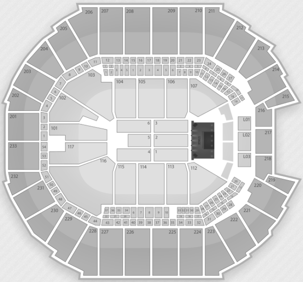 Time Warner Cable Arena Seating Chart Seat Numbers
