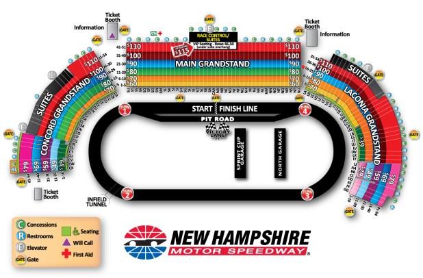 Raceway Darlington Chart Seating