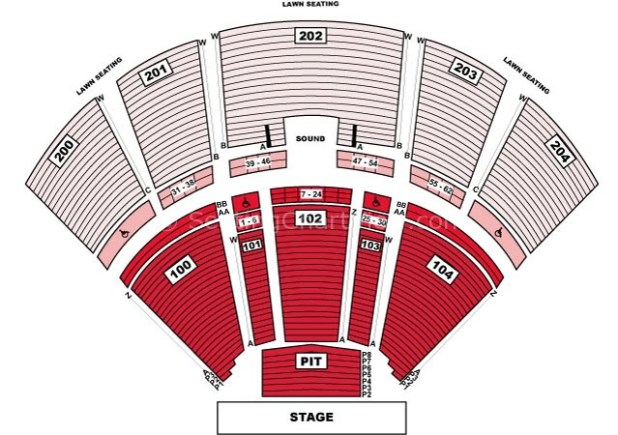 Bb T Pavilion Seating Chart