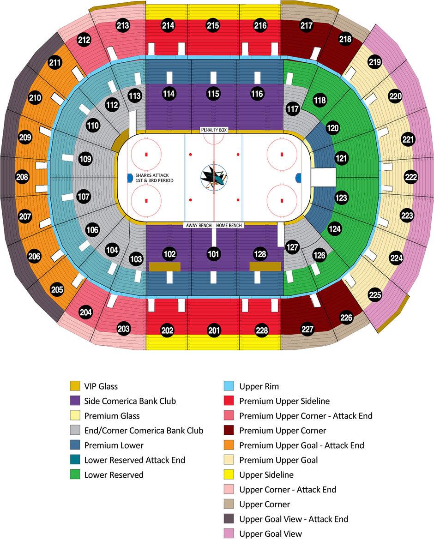Sap Center Seating Plan