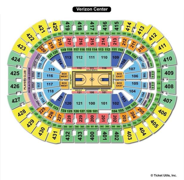 Verizon Center Basketball Seating Chart Brokeasshomecom - Verizon center seating map