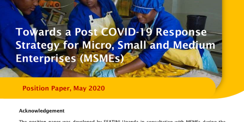 MSME Position paper on COVID response