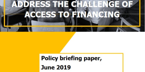 Policy briefing paper - Access to finance