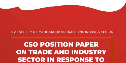 CSO POSITION PAPER ON TRADE AND INDUSTRY SECTOR IN RESPONSE TO THE MINISTERIAL POLICY STATEMENT OF FY 2021/22