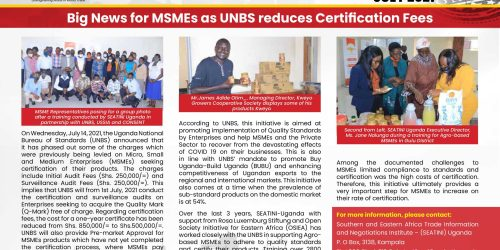 Big News for MSMEs as UNBS Reduces Certification Fees