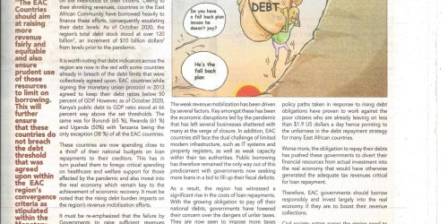 TEH NEXUS BETWEEN DEBT AND DRM: IS THE RISING DEBT BURDEN DRIVING UNFAIR TAXES WITHIN THE EAC REGION