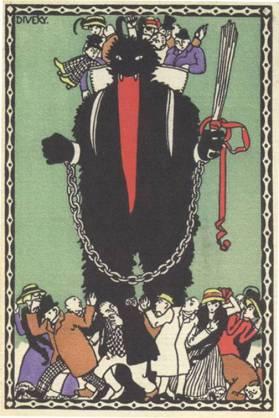 Giant Krampus greeting card