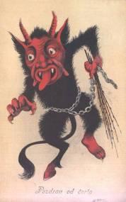 demonic Krampus card