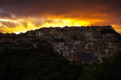 Ragusa at sunset