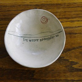 Small poetry bowl #1 (slight second)
