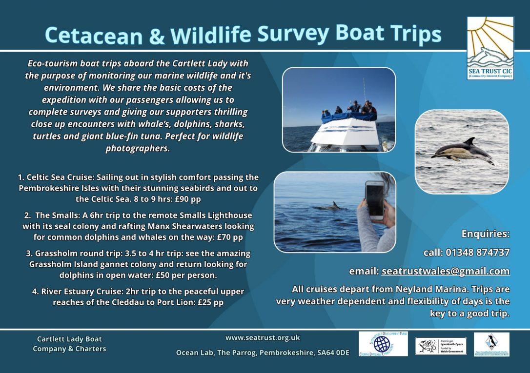 Sea Trust Cartlett Lady - boat trip flyer