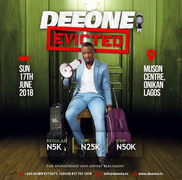 DEEONE EVICTED