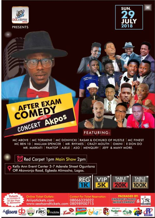 After Exam Comedy with Concert Akpos