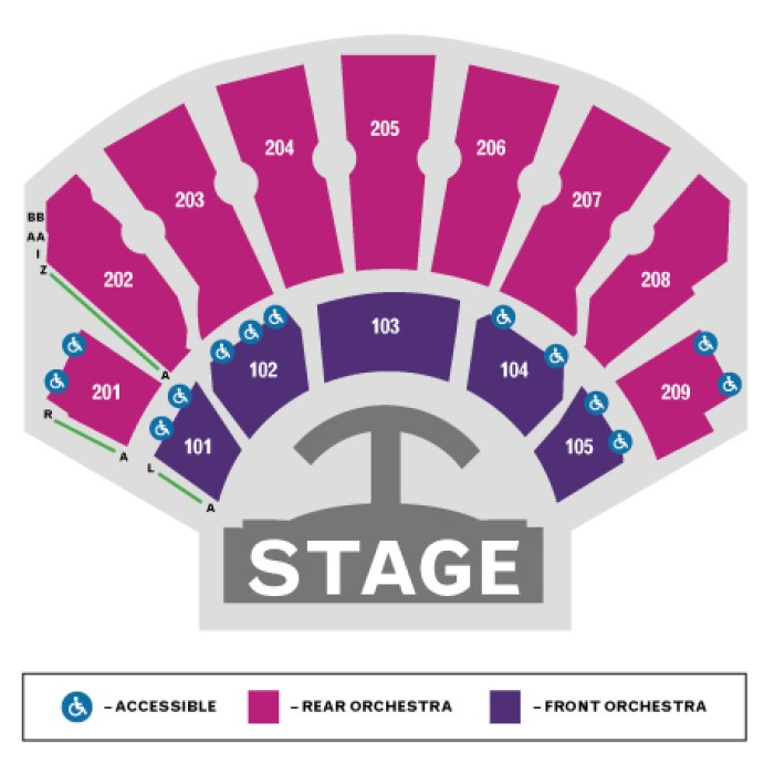 PLANET HOLLYWOOD ZAPPOS THEATER SEATING CHART