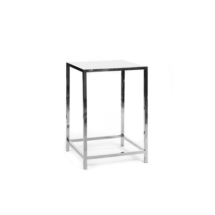 stainless steel square cocktail table