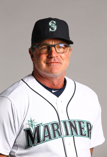 Feb 26, 2015; Peoria, AZ, USA; Seattle Mariners coach Andy Van Slyke poses for a portrait during photo day at Peoria Stadium. Mandatory Credit: Mark J. Rebilas-USA TODAY Sports