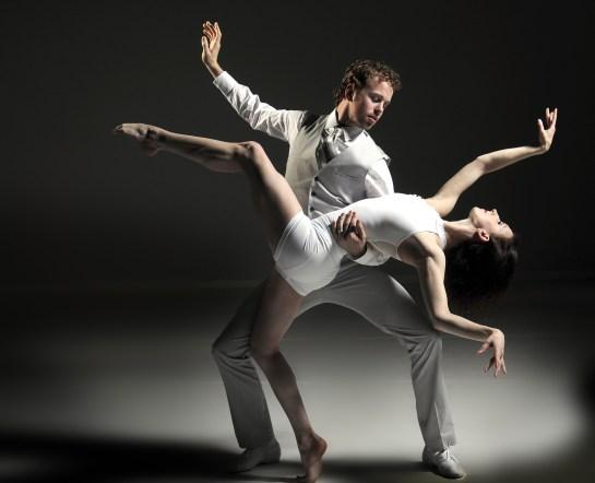 Dancers Nicholas Schultz and Laura McQueen of  Grand Rapids Ballet Photo by Chris Clark