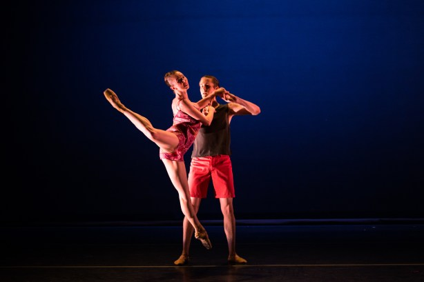 Elizabeth Belyea and Samuel Opsal in Iyun Ashani Harrison's Hush Photo by Joseph Lambert