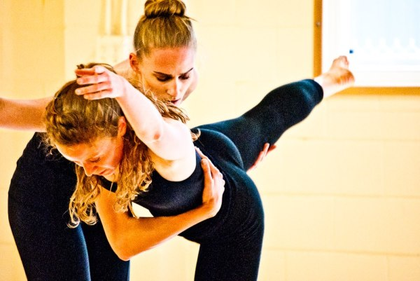 Victoria McConnell and Marissa Quimby perform at a July 2014 fundraiser for choreographers Michele Miller and Alana O Rogers Photo by Nico Tower