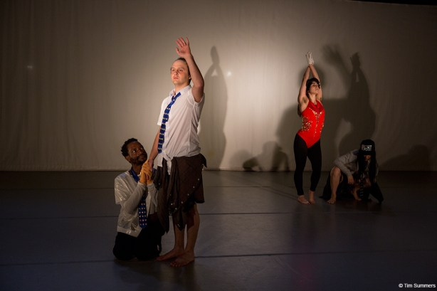 keyon gaskin, Ezra Dickinson, Allie Hankins, and Lucy Yim perform in Tahni Holt's Duet Love Photo by Tim Summers