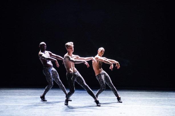 Benjamin Maestas lll, Keon Price, Sylvain Boulet in Rainbow Fletcher's Sportif Photo by Colleen Dishy