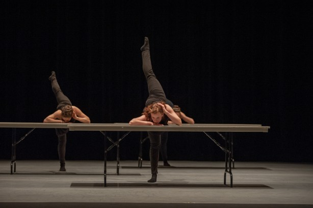 Dancers of The Foundry in Alex Ketley's Poem Triptych at CHOP SHOP 2015.   Photo by Rex Tranter.