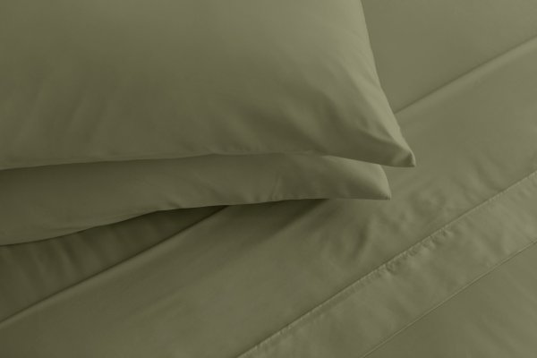 sheet set tea green
