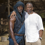 Malachi Kirby and LeVar Burton, Past and Present Kunta Kinte, History Channel's Updated Roots, Photo/Casey Crafford.