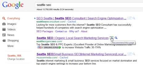 seattle seo search plus one
