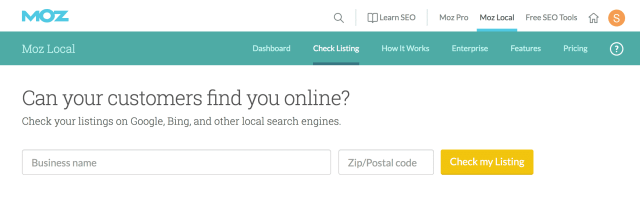 moz local seo audit tool