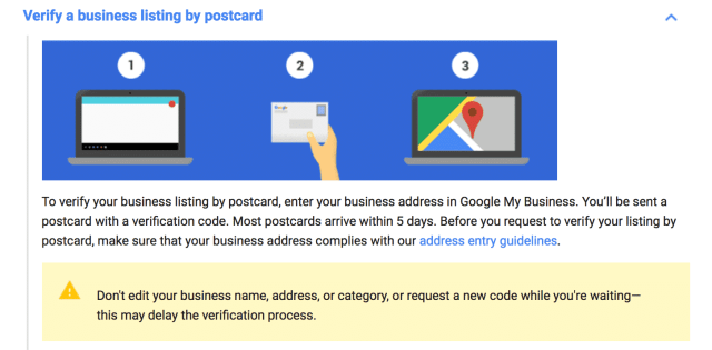 time it takes for a google my business verification postcard to arrive