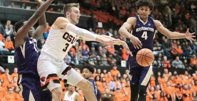 Huskies stunned in double OT, lose 97-94 to Beavers