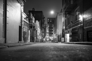 The current header, see full photo above, was taken in San Francisco a few weeks ago. We have a great hotel one block from this spot that we have stayed in a few times. On one occasion we hopped in a cab and headed out for dinner and the cab driver headed down this rather clean, fairly well lit alley. He mentioned that this was a 'dividing line' in the city. For a few blocks west of this alley things were somewhat questionable in the evenings. We made our way west of this 'dividing line' a several times, in the evening and didn't really see a difference from one block to the other. Photographically speaking, I really liked this alley. Great symmetry of lines, nice mix of horizontal and vertical lines, well lit for night shooting and perfectly safe. The perspective was taken from a very low, crouching position. Even though I like a change of perspective this was out of necessity, since a tripod was not an option and crouching gave me a little more stability in this case. Camera Information: Sony RX1r 35mm f/2 1/3s (very slow for a handheld, non-stabilized lens) ISO100