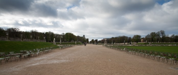 An empty spring day in the park