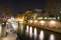 Looking down the Seine from the Latin Quarter over to the Ile de la Cite