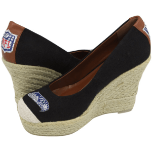 Seahawks Ladies - The Groupie Espadrille Wedge Sandals