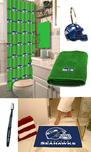 Seattle Seahawks Bathroom Gear