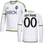 Seattle Sounders FC adidas 2015 Custom Secondary Replica Long Sleeve Jersey