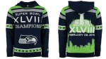 Seattle Seahawks Klew Super Bowl XLVIII Champions Commemorative Pullover Hoodie