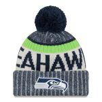 Youth Seattle Seahawks New Era Navy 2017 Sideline Official Sport Knit Hat