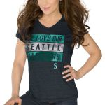 Seattle Mariners Touch by Alyssa Milano Women's Alumni V-Neck T-Shirt - Navy