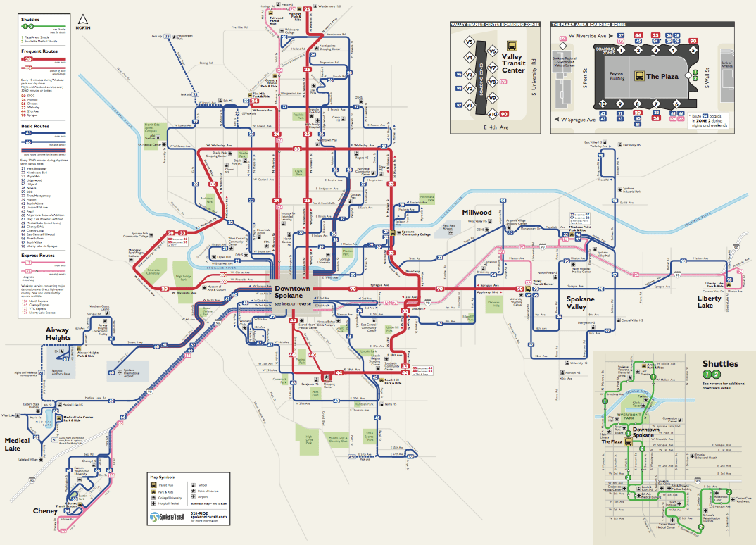 Spokanes Frequent Transit Map