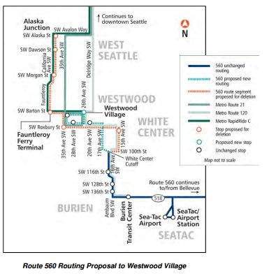560 Proposed Service Change, near Westwood Village