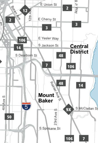 Central Area Map