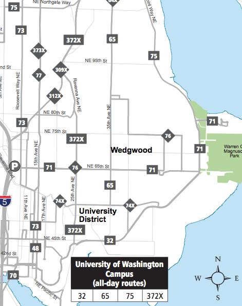NE Seattle Map