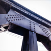 Iron beam with many rivets