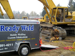 Readyweld trailer on construction site
