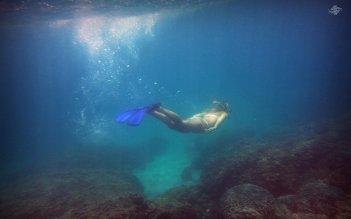 Renee Blundon at a Reef off Cost of Mbudya Island 1680 x 1050