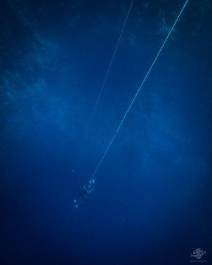 Rodolfo Escalante free-diving at blue hole dahab