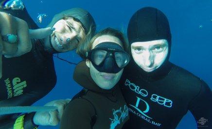 free-diving at blue hole dahab